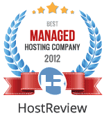 Awarded, Best Managed Hosting Company In 2012 On HostReview