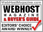 Webhost Magazine Editor's Choice Award Winner